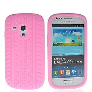 HKCFCASE Carcasa de TPU Gel Caso Funda silicona Case Para Samsung Galaxy S3 Mini I8190 Rosa