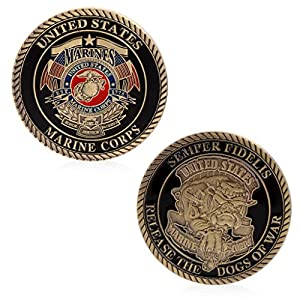 Tebatu Home Decoration Craft,United States Marine Corps Commemorative Challenge Coin Collectible Craft by Tebatu