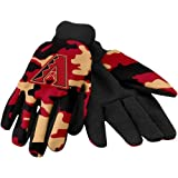 MLB Arizona Diamondbacks Utility Glove, Camouflage, Red