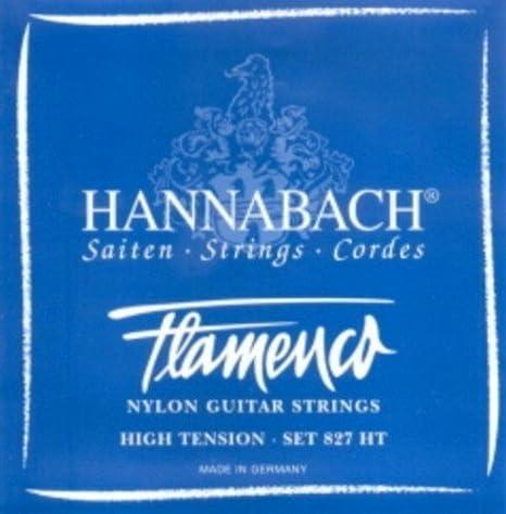 CUERDAS GUITARRA FLAMENCA - Hannabach (827/HT) Azul (Juego ...