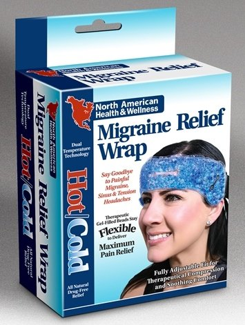 Jobar International - Migraine Relief Wrap Hot/Cold Therapy,Reusable,29