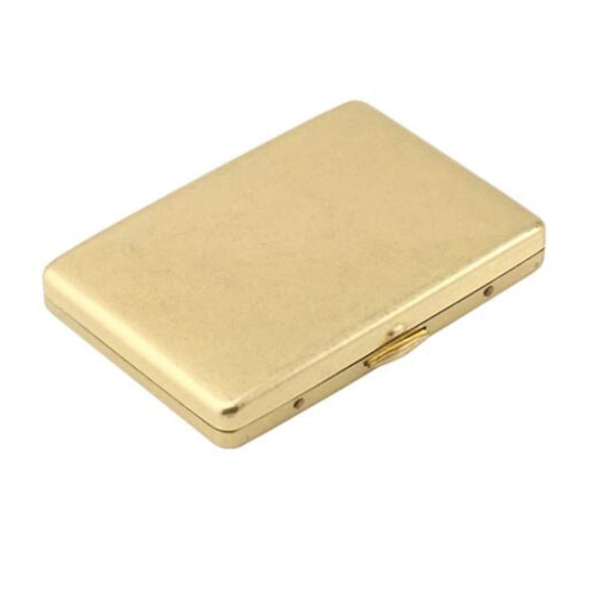 KALMAR Cigarette Case 20 Sticks, Fine Cigarette Case, Portable Simple Retro Cigarette Case Creative Retro Copper, is The Ideal Gift for Smokers, Size 8.76.0 1.3 cm, Gold Cigarette Box Cigar Protect