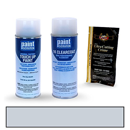 PAINTSCRATCH Silver Blue Metallic WG for 2010 Hyundai Sonata - Touch Up Paint Spray Can Kit - Original Factory OEM Automotive Paint - Color Match Guaranteed - Factory Spray Paint