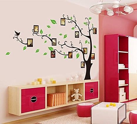 Buy Crayowns Latest Stylish Tree With Photo Frames Pvc Vinyl Wall