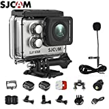 SJCAM SJ7 Star Kit {SJ7 Camera with Accessories, SJCAM Long Microphone} Real 4K Action Camera Wifi Waterproof Underwater Camera Ambarella Chipset 30FPS/Sony Sensor 12MP Gyro Stabilization-Silver