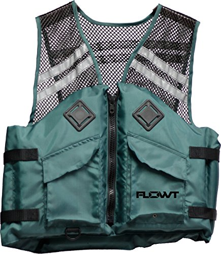 Flowt Mesh Fishing Adult Life Vest, Type III, PFD - USCG Approved