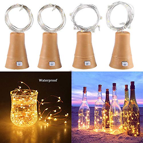 Glumes Solar LED String Fairy Lights |20 LED 6.6FT/2 m |Hanging Indoor Outdoor Decoration for Christmas Party Wedding Holiday Birthday Garden Patio Bedroom 5PC (Yellow) from Glumes