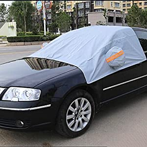 Zorvo Car Windshield Snow Cover Keeps Ice & Snow Off Snow Ice Frost Screen Windshield Cover Car Window Cover for Snow Auto Sun Shade Protector for baby Windscreen Roof Covers Protector