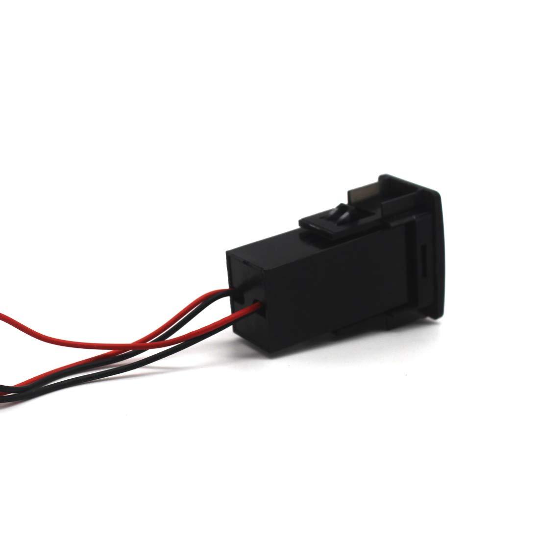 2.1A Dual USB Power Socket Port For iPhone 8 7 6 5,Samsung Huawei,LG,MP3 And More 4351609002 3724mm MOTONG HONDA Dual USB Socket