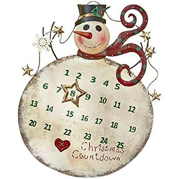 Christmas decorations christmas countdown for Christmas wall art amazon