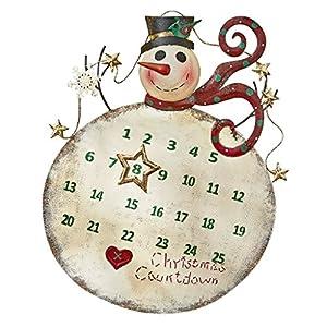 Design toscano christmas countdown snowman for Christmas wall art amazon