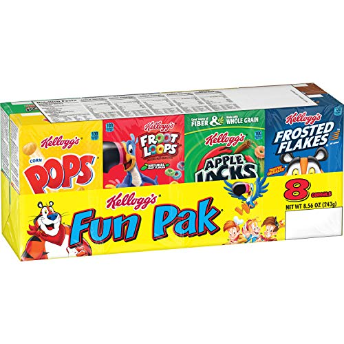 Prime Pantry: Kellogg's Breakfast Cereal, Variety Fun Pack, 8.56 oz Tray (8 Count) Now $2.38