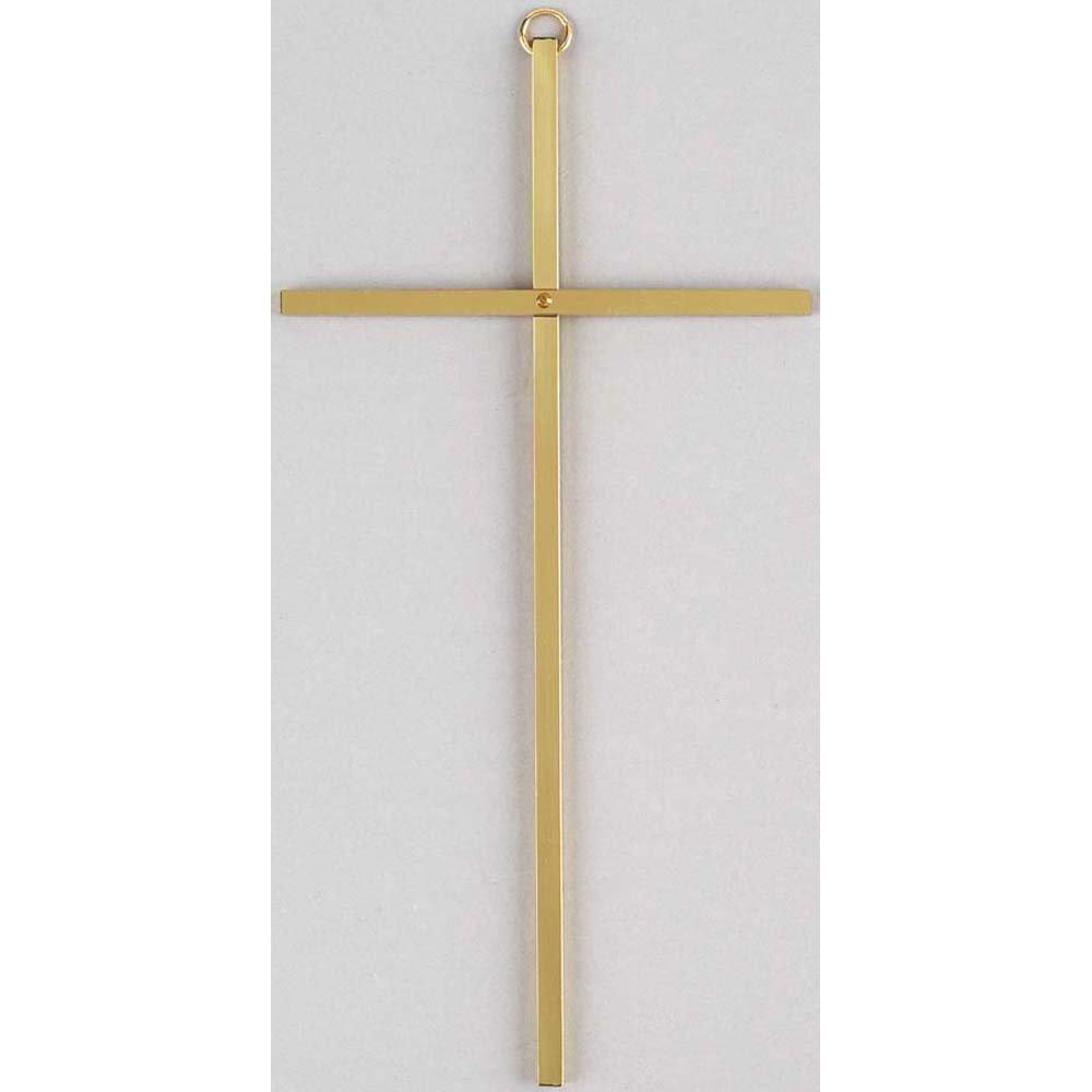 Plain Gold Metal Wall Cross