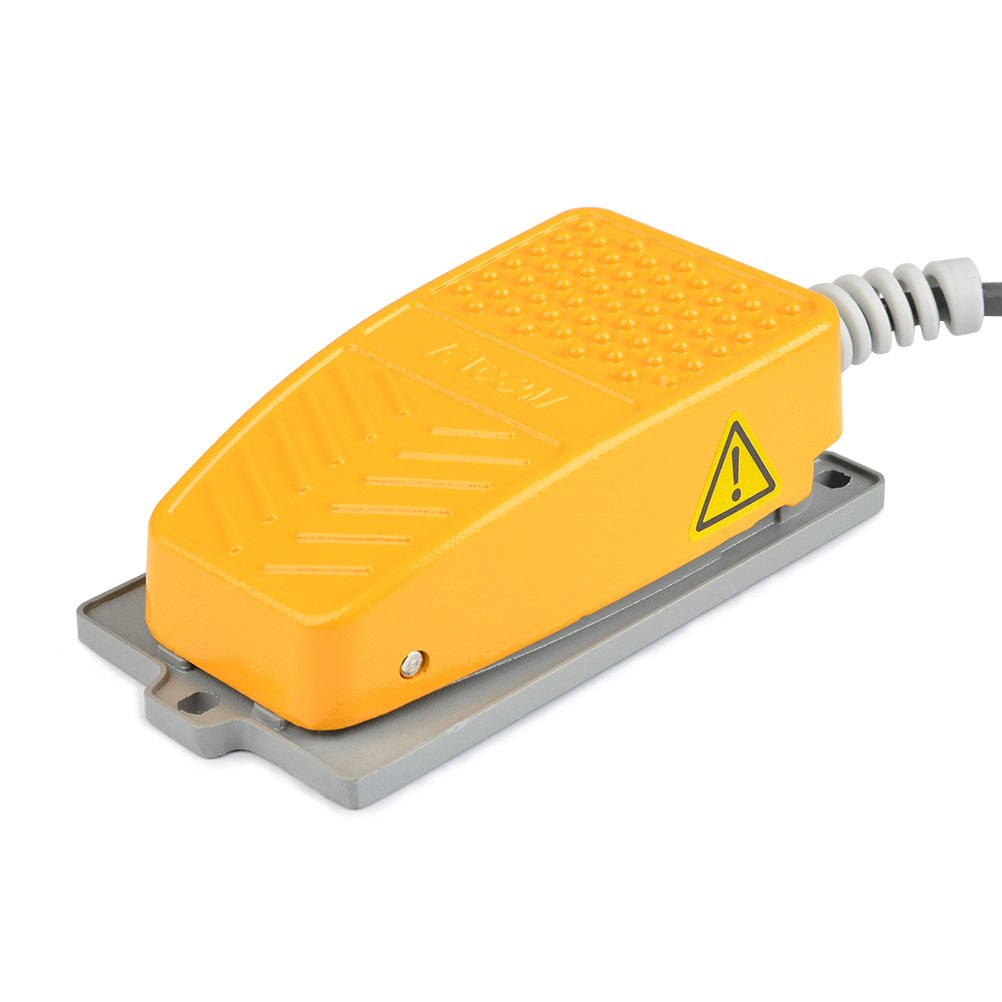 QLOUNI Industrial interruptor de padal interruptor de pedal bot/ón 250V 10A del pie