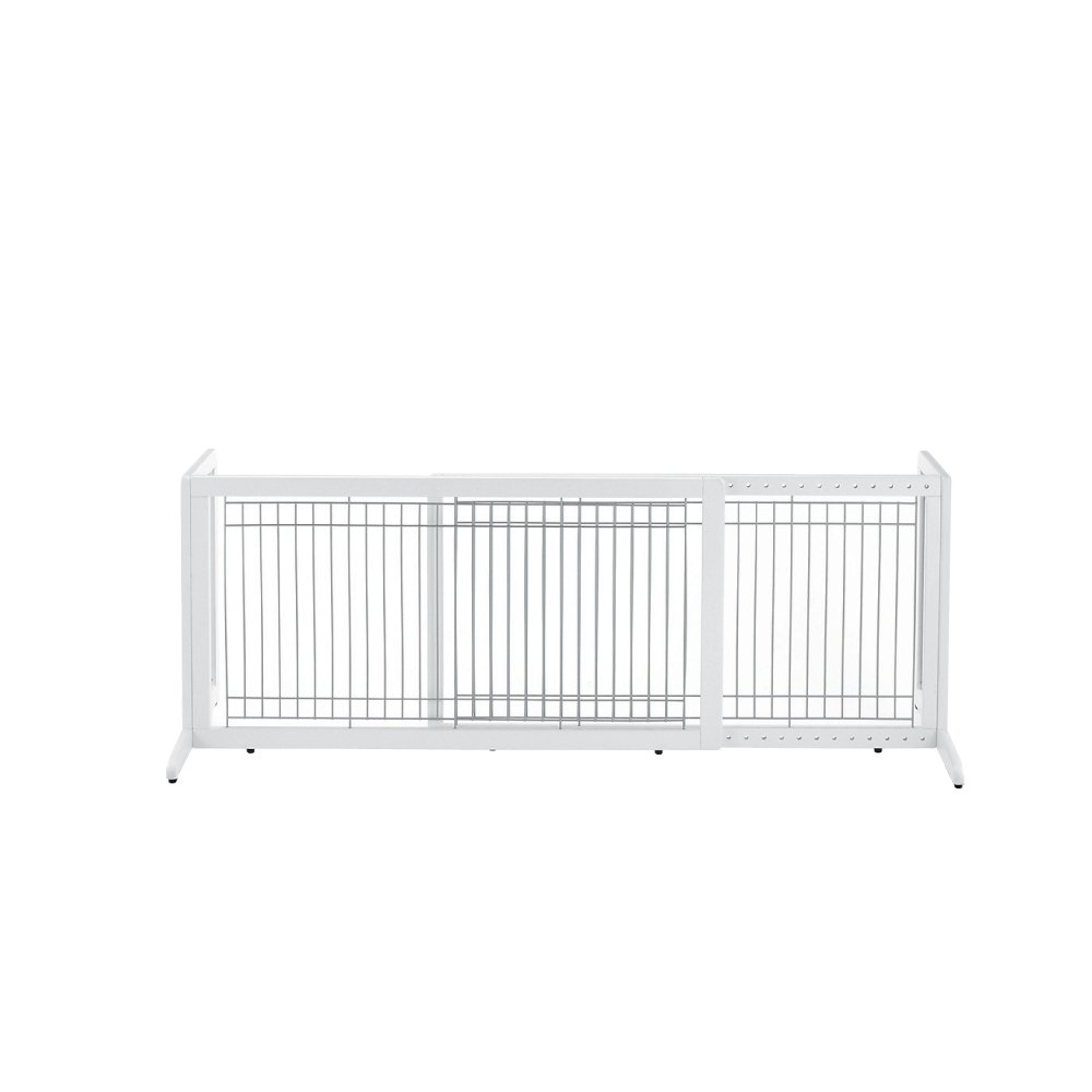 Richell Wood Freestanding Pet Gate Origami White Large