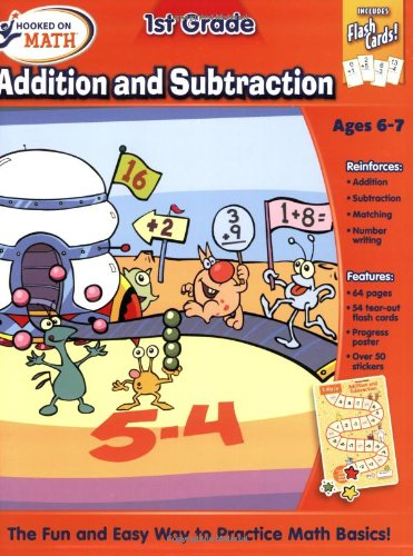 Hooked On Math 1st Grade Addition and Subtraction Premium Workbook ...