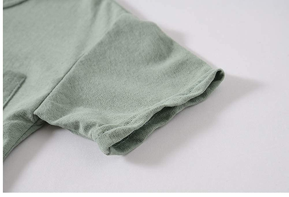 LENGIMA Ni/ñito Ni/ño Corto Manga Camiseta S/ólido Color Verano Algod/ón Casual