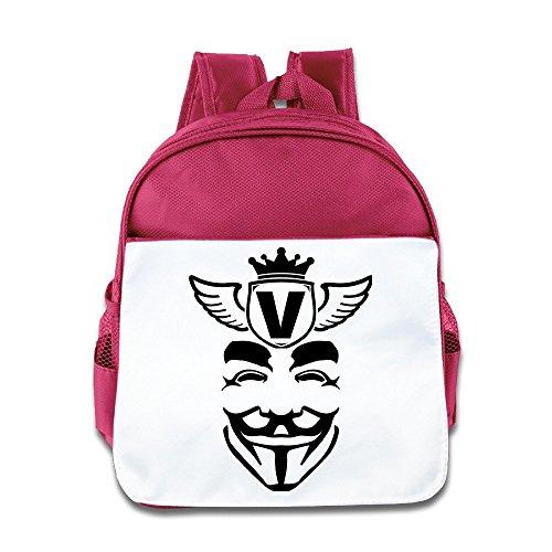 V For Vendetta Girl Costume (VOLTE Vendetta Pink Backpack Bag For Children School Travel)
