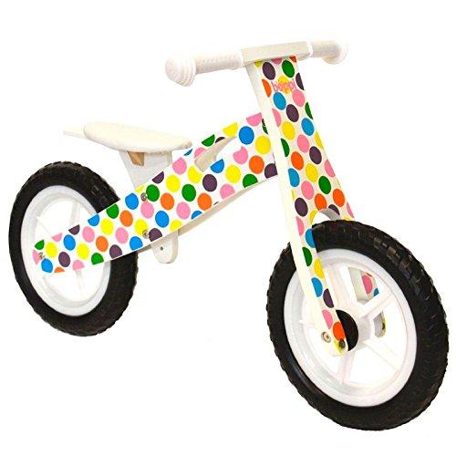 🥇 boppi® Bici sin Pedales de Madera para niños de 2-5 años – Topos de Colores