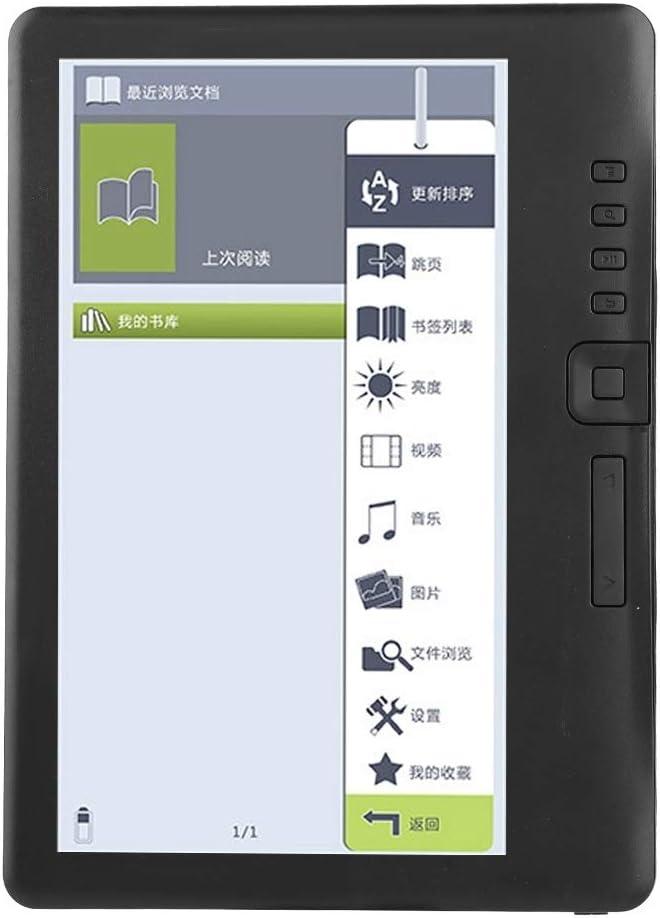 Delaman Lector de Libros Electrónicos BK7019 Portátil de 7 Pulgadas Libros Electrónicos Pantalla Colorida Compatible con Tarjeta TF Memoria 16G