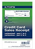 TOPS Credit Card Sales Slips, 3-Part, Carbonless, White, 3-1/4 x 7-7/8 Inches, 100 Sets per Pack (38538)