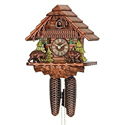 German Cuckoo Clock 8-day-movement Chalet-Style 11.00 inch - Authentic black forest cuckoo clock by Hekas