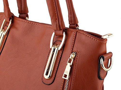 femmes sacs mode sacs en Casual de luxe véritable main femmes cuir à Kaki épaule Designer Messenger 6vntUqxwv