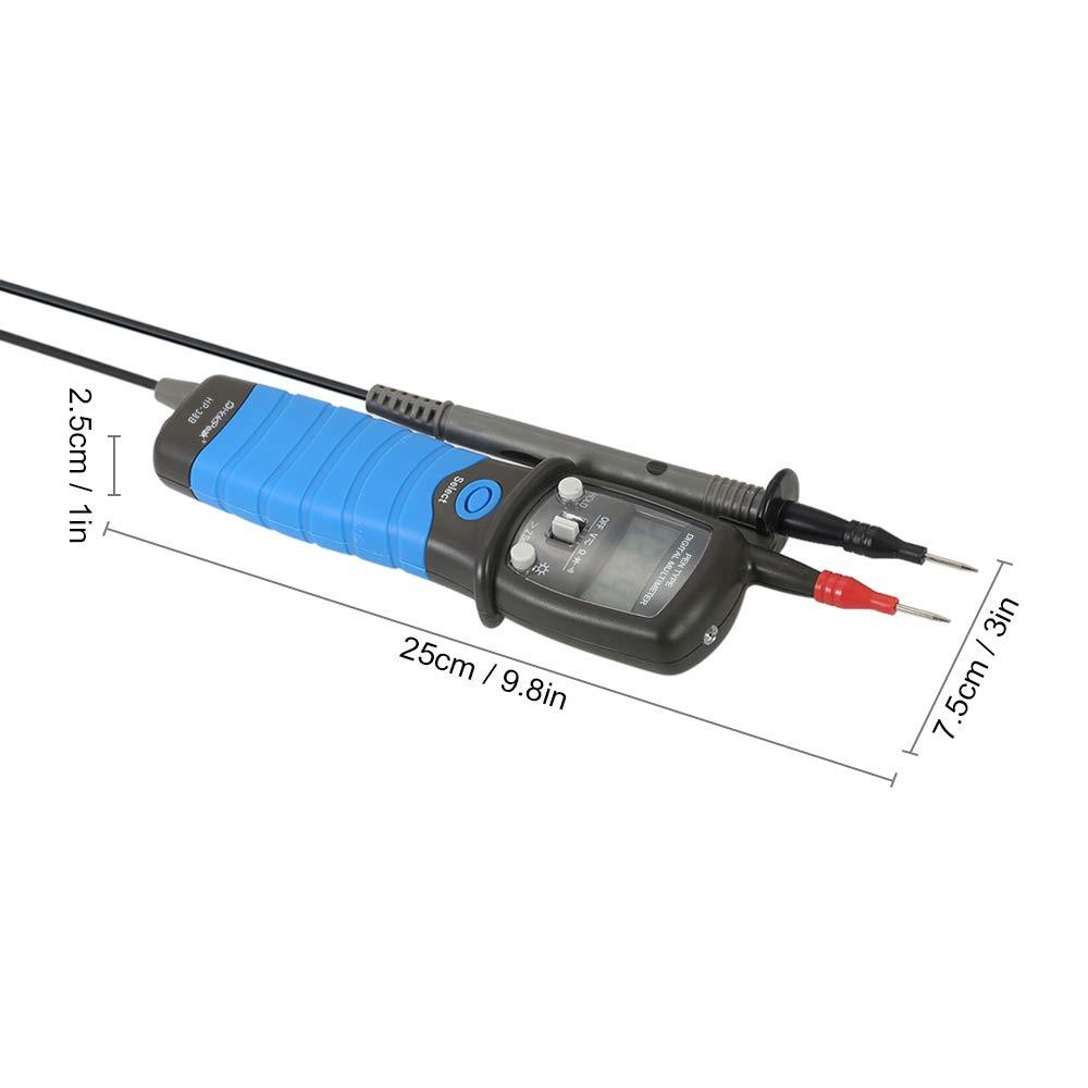 SODIAL Voltmeter Digital multimeter LCD elektronisches Instrument DC//AC Voltmeter Widerstand Diode Fortbestand pr/üfer