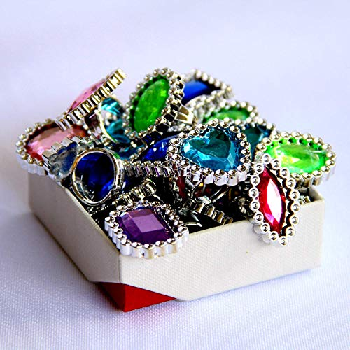 Dazzling Toys Rings | Pretend Play Large Gemstone