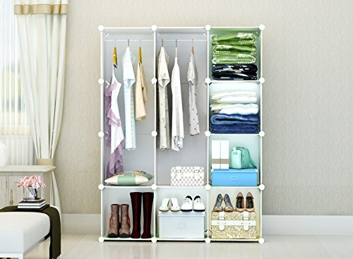 Portable Clothes Closet Wardrobe By Cosyhome Freestanding ...