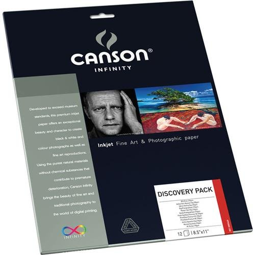 (Canson Infinity Fine Art and Photo Paper Discovery Pack, Museum Quality Inkjet Photo Paper, 8.5 x 11 Inch, 12 Sheets)