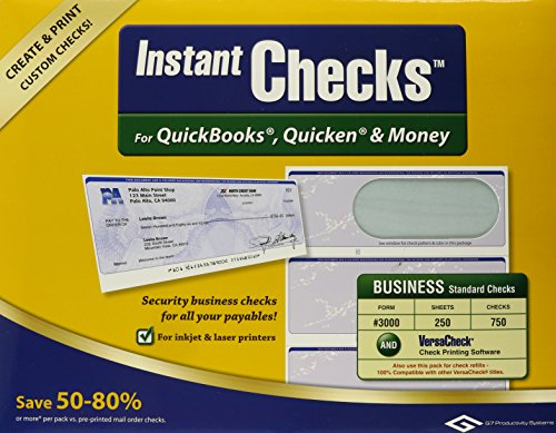 VersaCheck Instant Checks for QuickBooks, Quicken & Money Multi VCICL-8655