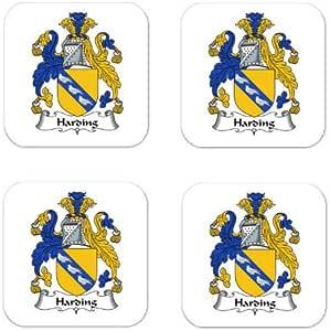 Amazon.com: Harding Family Crest Square Coasters Coat of