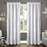Exclusive Home Ruffles Window Curtain Panel Pair with Rod Pocket 54×84 Winter White 2 Piece Review