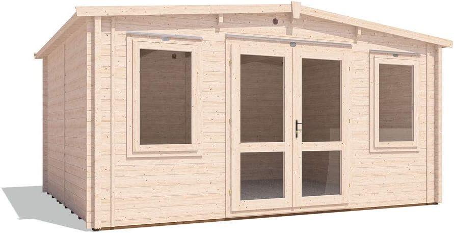 Dunster House - Cabina de Madera aislada para jardín, diseño de Cueva de Hombre, 5 m x 4 m: Amazon.es: Jardín