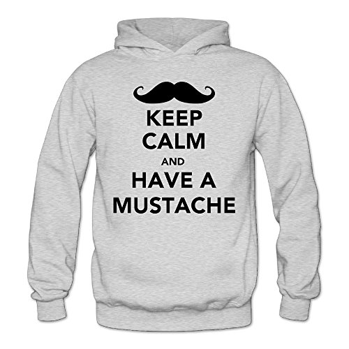 MARC Women's HAVE A MUSTACHE Hoodies Ash Size - Certificates We Gift Have