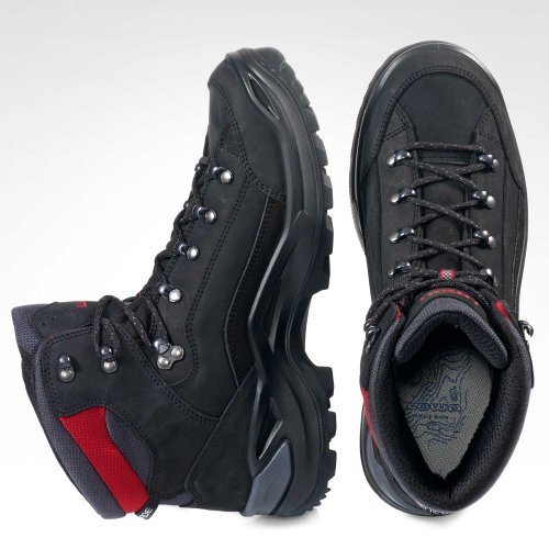 cheapest price outlet boutique autumn shoes Lowa Herren Renegade GTX Mid Kletterschuhe Schwarz/Rot ...
