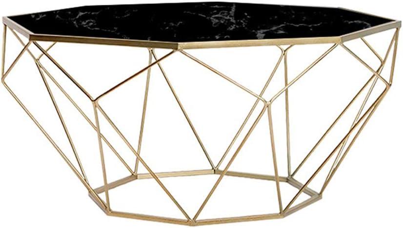 Fabrieksverkoop Nordic marmer koffietafel, eenvoudige kleine salontafel moderne ijzeren bank bijzettafel met stevig metalen frame, zwart B dDhRe17