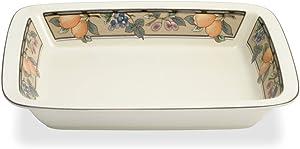 Mikasa Garden Harvest Lasagna Dish, 13-Inch by 10-Inch, White