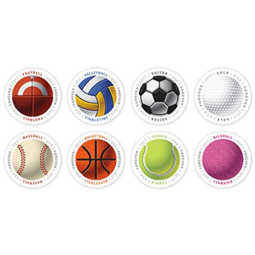 Have a Ball! 10 Sheets of 16 USPS First Class Postage Stamps Baseball Basketball Vollyball
