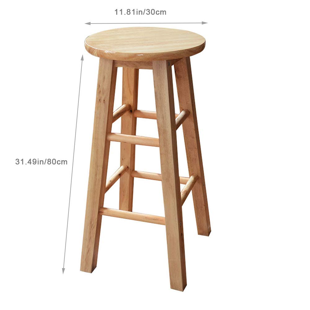 Phenomenal Amazon Com Locgff Vintage Wooden High Stool Round Top Gmtry Best Dining Table And Chair Ideas Images Gmtryco