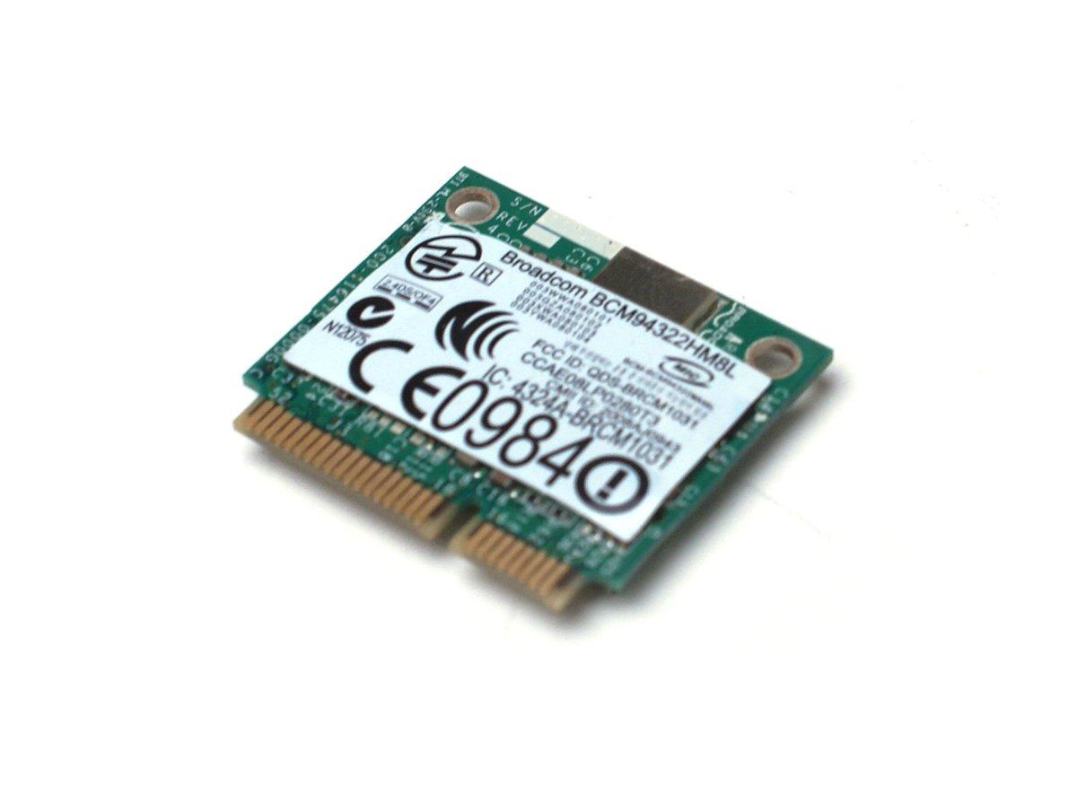 Genuine PW394 Dell/Boardcom PCI Express Mini 802.11 a/b/g/n WiFi Mini Card For Latitude XT2, XT2-XFR, 2100, E4200, E4300, E5400, E5410, E5500, E5510, E6400, E6400 ATG, E6400 XFR, E6500, Studio 15, 1535, 1537, 17, 1735, 1736, 1737, XPS 1340, Vostro 1500 Co