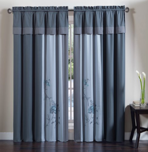 Chezmoi Collection 4 Piece Embroidered Curtain product image
