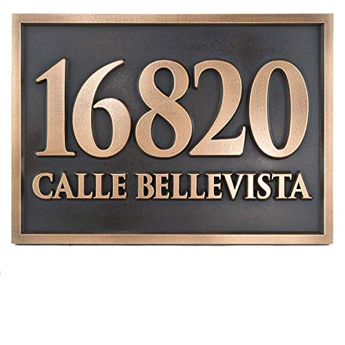 Atlas Signs and Plaques Rockdale Station Address Plaque 17x12 - Raised Bronze Patina Metal ()