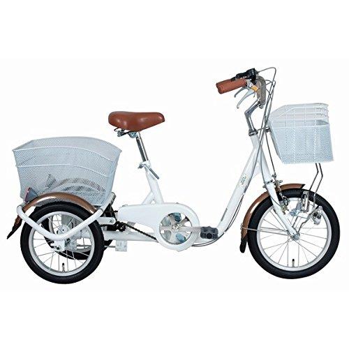 SWING CHARLIE ロータイプ 三輪自転車 MG-TRE16SW-WH【代引不可】 生活用品 インテリア 雑貨 自転車(シティーサイクル) カゴ付き自転車 top1-ds-1604388-ah [簡素パッケージ品] B06XQVVCBC