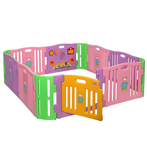 JAXPETY Baby Playpen Kids 8+4 Panel Safety Play Center Yard Home Indoor Outdoor New Pen