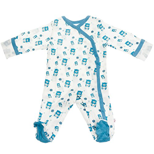 Babysoy Baby Organic Cotton Pattern Footie Pajamas