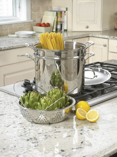 Cuisinart 77-412 Chef's Classic Stainless 4-Piece 12-Quart Pasta/Steamer Set by Cuisinart (Image #1)