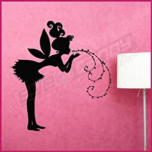 Fairy blowing Pixie Dust Stars Wall Decals Stickers Art Graphics, MATTE, PURPLE