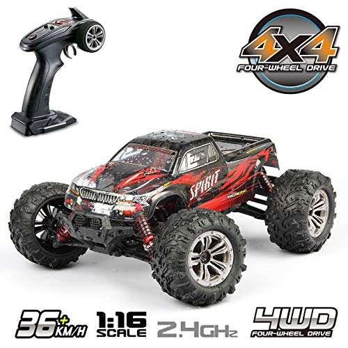 Hosim 1:16 Scale 4WD 36km/h High Speed RC Truck 9135 Remote Control RC Car 2.4Ghz Radio Controlled Off-Road RC Monster Truck RTR Hobby Car Buggy for Kids Adults - Truck Game Rc